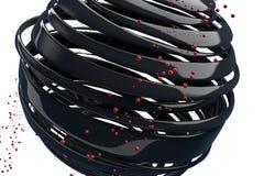 bolas 3D decorativas listradas Fotografia de Stock