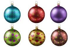 Bolas da árvore de Natal imagens de stock royalty free