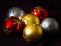 Bolas da árvore de Natal Foto de Stock Royalty Free