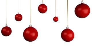 bolas da árvore de Natal 3d Fotos de Stock Royalty Free
