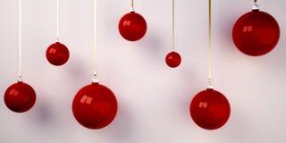 bolas da árvore de Natal 3d Fotos de Stock