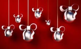 bolas da árvore de Natal 3d Imagem de Stock Royalty Free