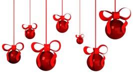 bolas da árvore de Natal 3d Fotografia de Stock