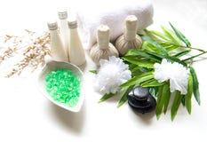 Bolas da compressa da massagem dos termas, bola erval e termas do tratamento, Fotos de Stock Royalty Free