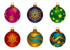 Bolas da cor do Natal ilustração royalty free