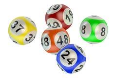 Bolas da loteria ilustração do vetor