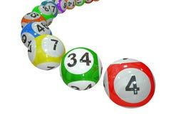 Bolas da loteria Fotografia de Stock Royalty Free