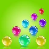 Bolas da loteria como a metáfora para a loteria Fotografia de Stock Royalty Free