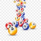 Bolas da loteria 3d do Bingo para o loto do Keno no vetor transparente ilustração royalty free