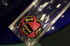 Bolas da loteria durante a extração Imagens de Stock Royalty Free