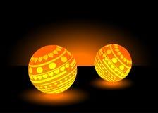 Bolas da luz alaranjada ilustração do vetor