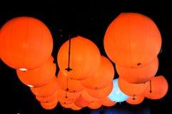 Bolas da luz alaranjada Fotografia de Stock Royalty Free