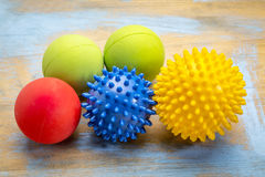 Bolas da massagem do auto e da terapia do reflexology Foto de Stock Royalty Free