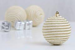 Bolas das decorações do Natal Fotografia de Stock
