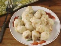 Bolas de arroz fritado características do doce do festival de lanterna foto de stock