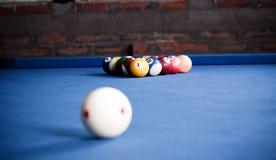 Bolas de bilhar/foto do estilo do vintage das bolas de bilhar dentro Imagem de Stock Royalty Free
