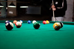 Bolas de bilhar/foto do estilo do vintage das bolas de bilhar dentro Fotos de Stock Royalty Free