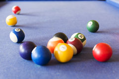Bolas de billar Imagen de archivo libre de regalías