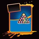 Bolas de billar en modelo salpicado anaranjado Fotos de archivo libres de regalías