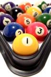 Bolas de billar en triángulo Imagen de archivo libre de regalías
