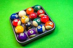 Bolas de billar - piscina Fotografía de archivo libre de regalías
