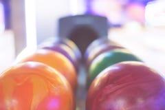 Bolas de boliches Fotografia de Stock Royalty Free