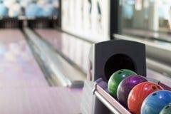 Bolas de boliches jogo Fotografia de Stock