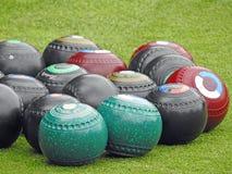 Bolas de bolos de Bowling Green Fotografía de archivo