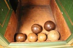Bolas de bolos victorianas viejas imagen de archivo libre de regalías