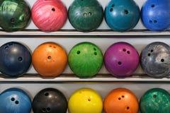 Bolas de bowling Fotografía de archivo libre de regalías