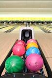 Bolas de bowling de bolo Imagen de archivo libre de regalías