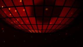 Bolas de brilho e refletindo do disco do wirh do fundo do partido de disco video estoque