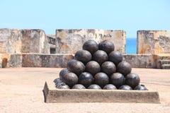 Bolas de cañón Foto de archivo libre de regalías