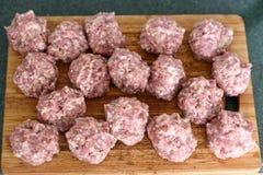 Bolas de carne Fotografia de Stock