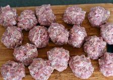 Bolas de carne foto de archivo
