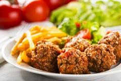 Bolas de carne Imagem de Stock