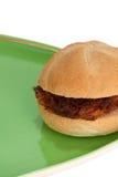 Bolas de carne del bocadillo en una placa Fotografía de archivo libre de regalías