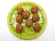 Bolas de carne fresca fotos de archivo