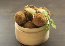 Bolas de carne fritadas Foto de Stock Royalty Free