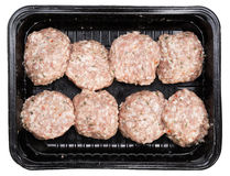 Bolas de carne isoladas Imagens de Stock