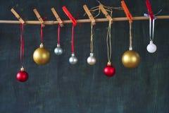 Bolas de Chistmas Fotografía de archivo libre de regalías