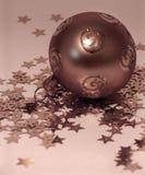 Bolas de cobre de la Navidad Foto de archivo libre de regalías