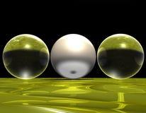 Bolas de cristal Imágenes de archivo libres de regalías