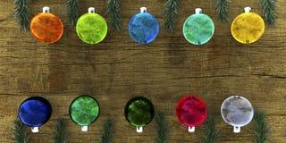 Bolas de cristal coloridas Imagens de Stock Royalty Free