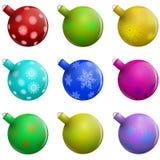 Bolas de cristal de la Navidad ilustración del vector