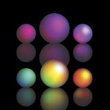 Bolas de cristal del vector Imágenes de archivo libres de regalías