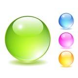 Bolas de cristal fijadas Imagen de archivo libre de regalías