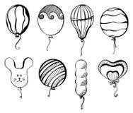 Bolas de diversas formas Dé exhausto, aislado en un fondo blanco Ilustración del vector Stock de ilustración