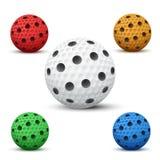 Bolas de Floorball del vector Foto de archivo
