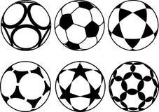 Bolas de futebol Fotos de Stock